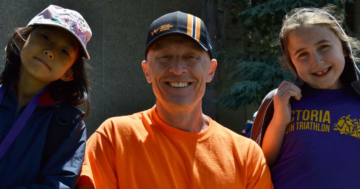 Rob Dibden and triathletes.